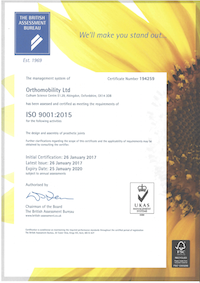 Orthomobility ISO 9001